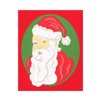 Toile Camée du père noël de Noël