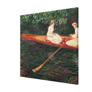 Toile Canotage de Claude Monet | sur la rivière Epte
