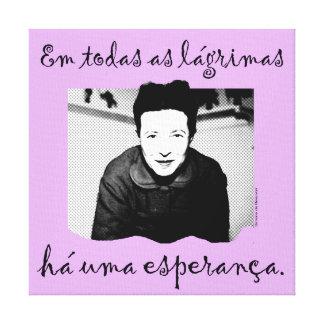 Toile Canvas l'Espoir de Simone de Beauvoir