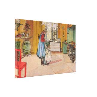 Toile Carl Larsson la cuisine
