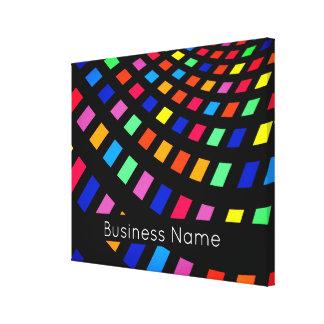 Toile Carrés géométriques colorés avec la raison sociale