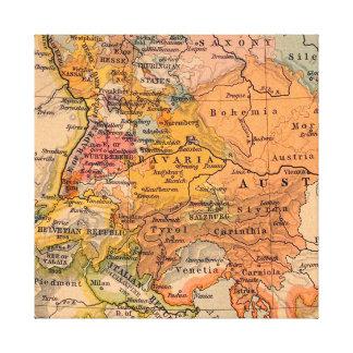 Toile Carte antique extraordinaire Europe centrale