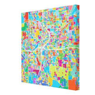 Toile Carte colorée d'Atlanta