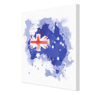 Toile Carte d'aquarelle de l'Australie