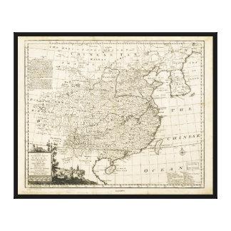 Toile Carte de la Chine par Emanuel Bowen (1766)