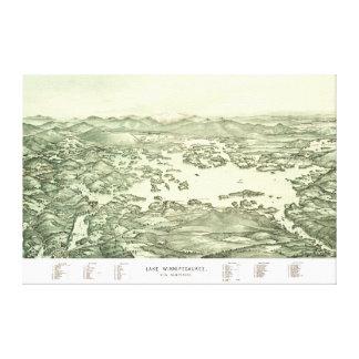 Toile Carte de lac Winnipesaukee à partir de 1903