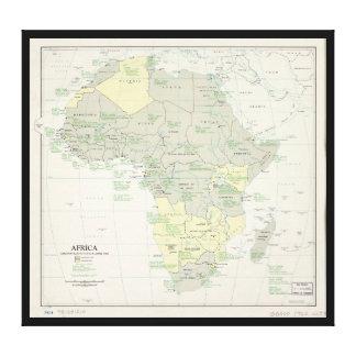 Toile Carte de l'Afrique, statut administratif (avril