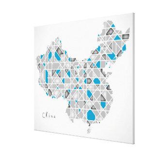 Toile Carte de l'illustration en cristal de style de