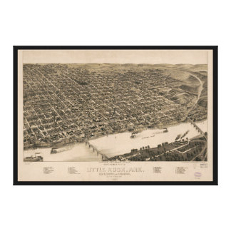 Toile Carte de perspective de Little Rock, Arkansas