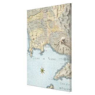 Toile Carte du Golfe de Naples et d'abords