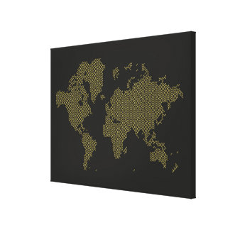 Toile Carte du monde de Digitals