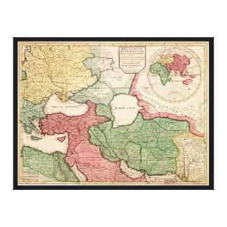 Toile Carte du Moyen-Orient (1712)