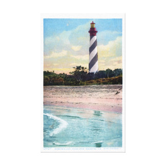 Toile Carte postale vintage de phare d'Anastasia