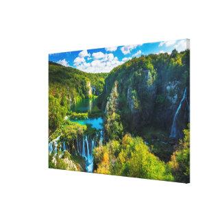 Toile Cascade élégante pittoresque, Croatie