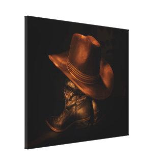 Toile Casquette et bottes de cowboy occidentaux