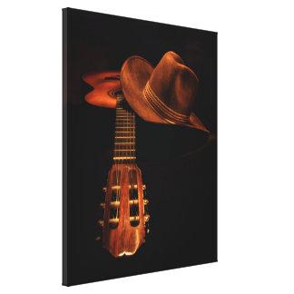 Toile Casquette occidental classique de guitare et de