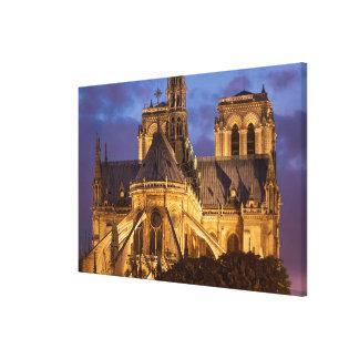 Toile Cathédrale de Notre Dame la nuit