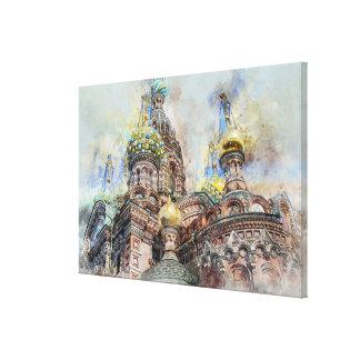Toile Cathédrale de petersbourg de saint, Russie