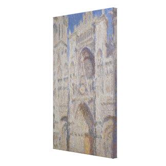 Toile Cathédrale de Rouen la lumière du soleil portaile