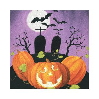 Toile Chambre hantée par Halloween éffrayante