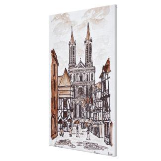 Toile Chambres de cathédrale et de Normand | Quimper,