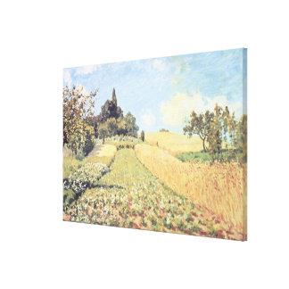Toile Champ de blé d'Alfred Sisley |