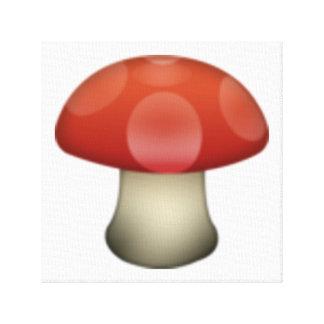 Toile Champignon - Emoji