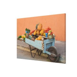 Toile Chariot de fruits et légumes, Cuba