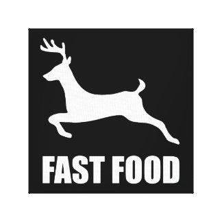 Toile Chasse de cerfs communs d'aliments de préparation