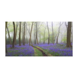 Toile Chemin de jacinthe des bois