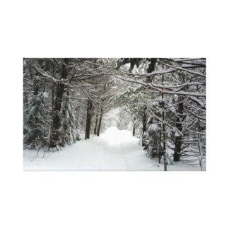 Toile Chemin de Milou dans la forêt