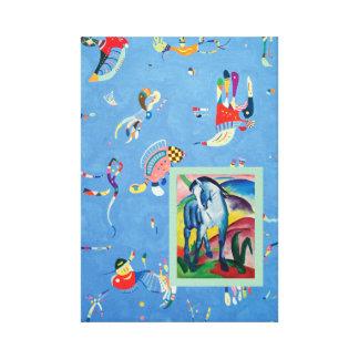Toile Cheval bleu avec le bleu de ciel