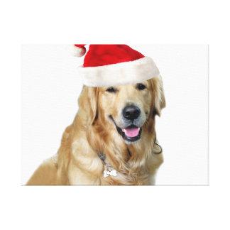 Toile Chien-animal familier de Labrador Noël-père Noël