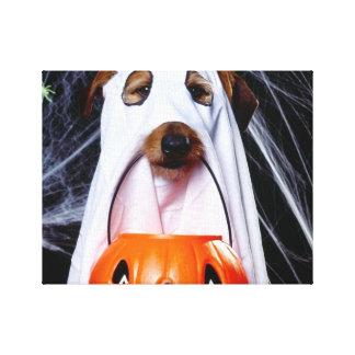 Toile Chien de fantôme - chien drôle - poursuivez