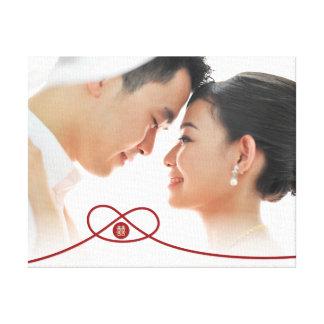 Toile chinoise de photo de mariage de double noeud toiles