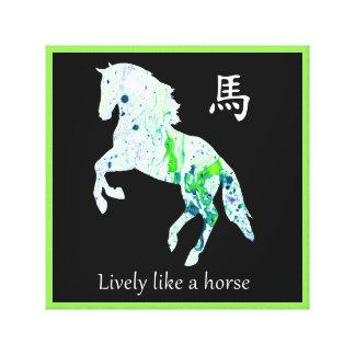 Toile chinoise de zodiaque - allègrement comme un