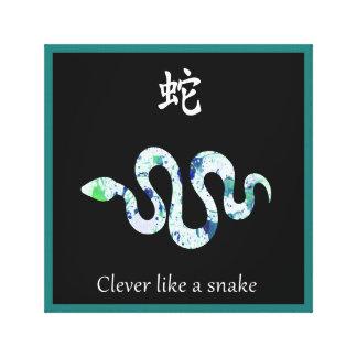 Toile chinoise de zodiaque - intelligente comme un