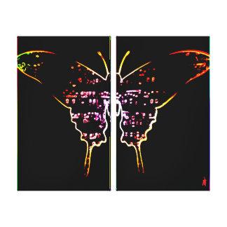 """Toile chiot rouge """"papillon sur le mur """""""