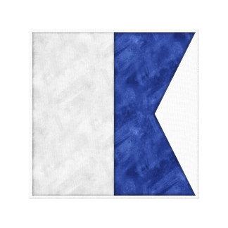 Toile Choisissez de 26 drapeaux maritimes nautiques