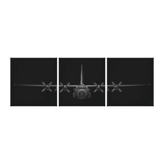 Toile Chrome noir Herk (édition de 3 panneaux)