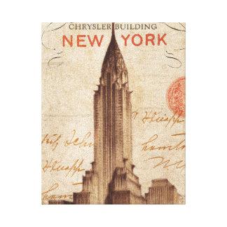 Toile Chrysler vintage construisant à New York