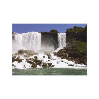 Toile Chutes du Niagara - vue supérieure de l'eau