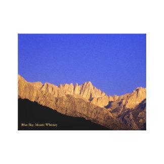 Toile Ciel bleu, le Mont Whitney