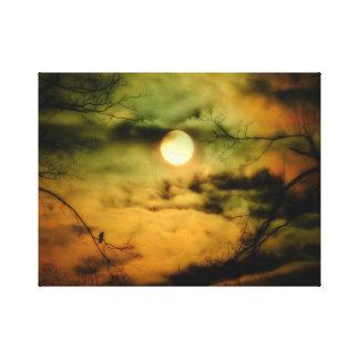 Toile Ciel éclairé par la lune mystérieux