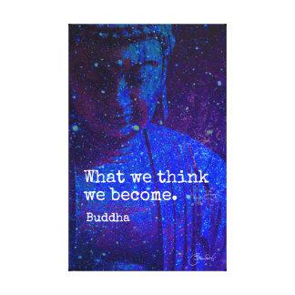 Toile Citation céleste de sagesse de Mindfulness de