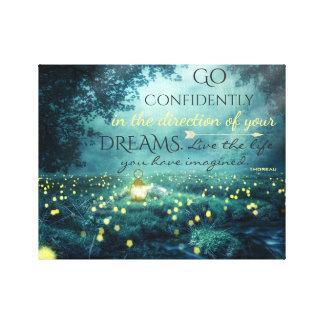 Toile Citation de inspiration lunatique de rêves