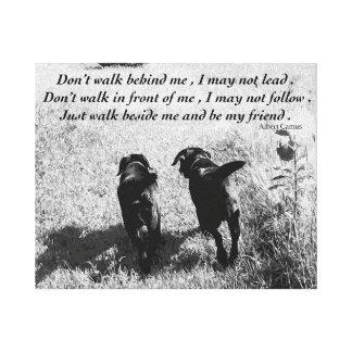 Toile Citation noire d'amis de Labrador