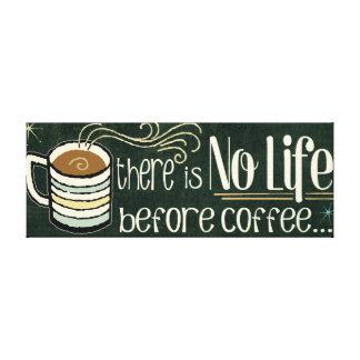 Toile Citations drôles de café