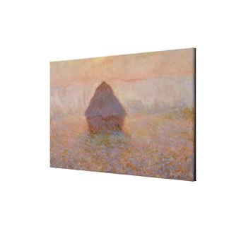 Toile Claude Monet | Grainstack, Sun dans la brume