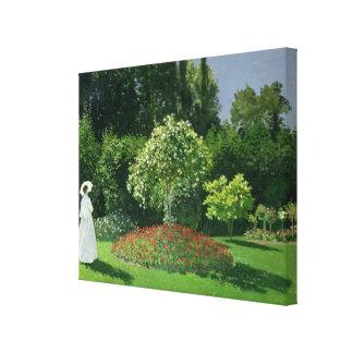Toile Claude Monet | Jeanne Marie Lecadre dans le jardin